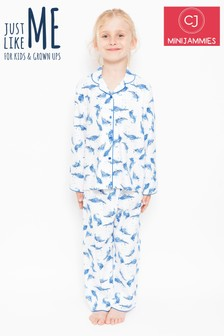 Minijammies Feather Print Pyjama Set
