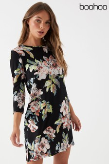 Boohoo Floral Shift Dress