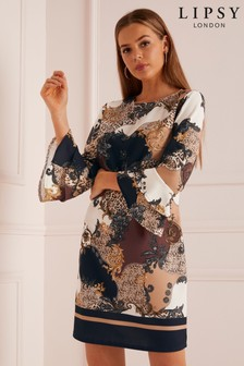 Lipsy Gabriella Print Shift Dress