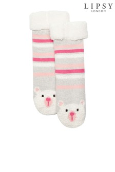 Lipsy Girl Bear Slipper Socks