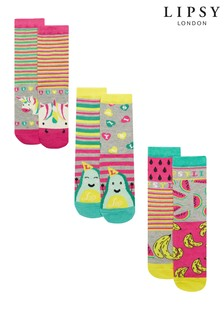Lipsy Girl Rainbow Mix Pack Sock