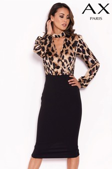 AX Paris Animal Print 2 In 1 Midi Dress