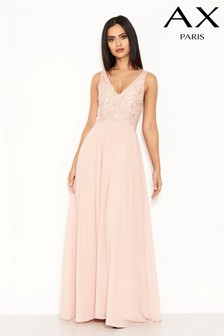 AX Paris Crochet Lace Front Maxi Dress