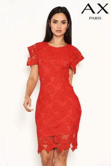 AX Paris Crochet Frill Dress