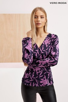 Vero Moda Long Sleeve Floral Printed Shirt