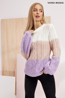 Vero Moda Colour Block Knit Jumper