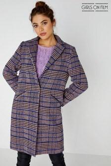 Girls On Film Check Coat