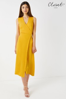 Closet A line Wrap Dress