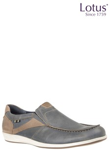 Lotus Leather Boat Loafers
