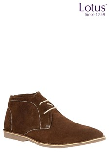 Lotus Leather Desert Boots