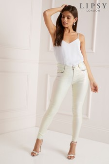 Lipsy Petite Skinny Jeans mit Beschichtung