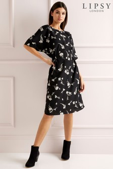 Lipsy Floral Midi Shift Dress