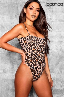 Boohoo Leopard High Rise Body