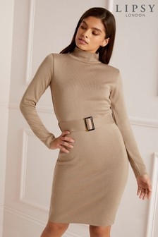Lipsy Horn Buckle Detail Dress