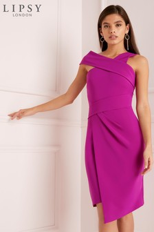 Lipsy Assymetric Neck Bodycon Dress
