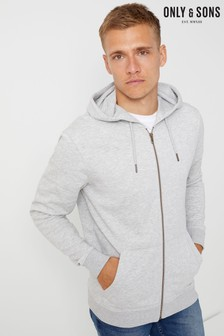 Only & Sons Basic Zip Through Hoodie