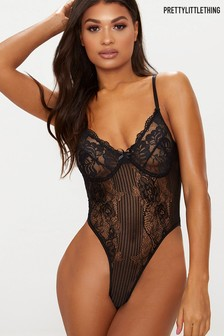 PrettyLittleThing Cupped Lace Bodysuit