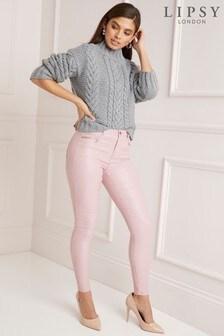 Lipsy Petite Coated Skinny Jeans