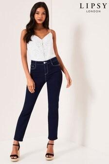 Lipsy Meghan Mid Rise Slim Leg Scarf Belt Regular Length Jeans