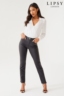 597c91a3909 Lipsy Selena Mid Rise Slim Leg Coated Regular Length Jean