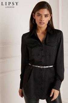Lipsy Lang geschnittenes Hemd mit Gürtel