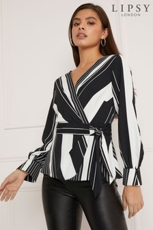 Lipsy Stripe Tie Front Blouse