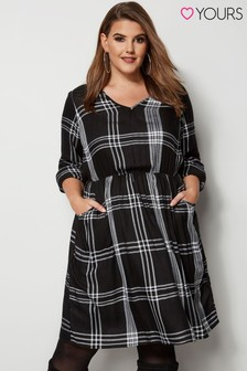 Yours Curve Check Dress