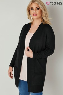 Yours Rib Trim Cardigan