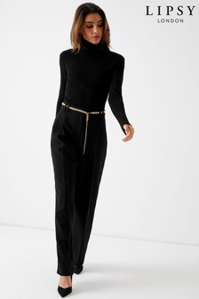 Lipsy Chain Belt Wide Leg Trousers