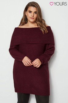 Yours Clothing Bardot Knitted Tunic