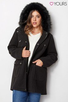 Yours Wool Parka Coat