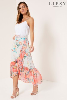 Lipsy Frill High Low Maxi Skirt