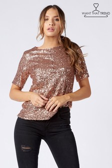 Want That Trend Sequin Top