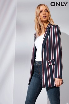 Only Stripe Long Sleeve Blazer