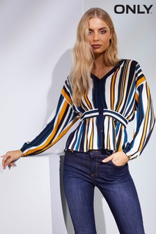 Only Stripe Peplum Top