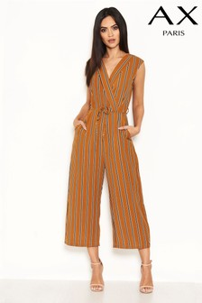 AX Paris Stripe Culotte Jumpsuit