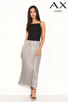 AX Paris 2 In 1 Pleated Midi Dress