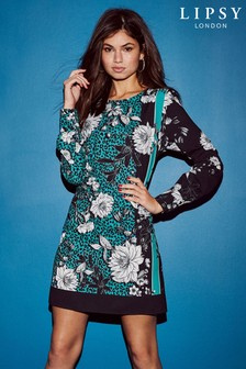 Lipsy Animal And Floral Print Shift Dress