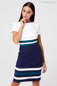 Paper Dolls Stripe Pencil Dress