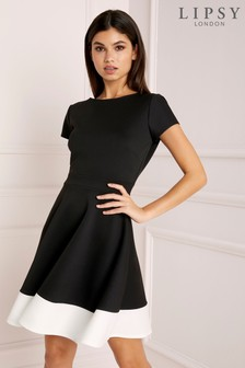 d8db4fd914 Lipsy Mono Skater Dress