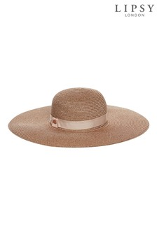 Lipsy Lurex Detail Ribbon Band Summer Hat