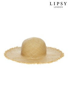 Lipsy Natural Woven Summer Straw Hat