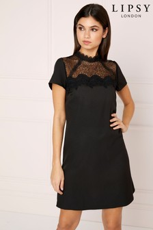 Lipsy Lace Insert Shift Dress