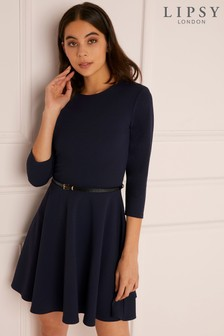 Lipsy Belted Skater Dress