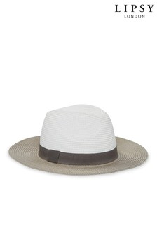 the latest 7ad36 8eb73 Lipsy Straw Fedora Summer Hat