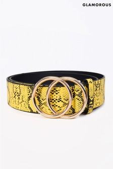 Glamorous Yellow Double Ring Belt