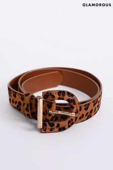 Glamorous Leopard Print Belt