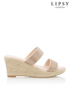 Lipsy Shimmer Two Strap Sandals