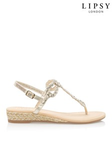 b2a04fd8a6e4 Lipsy Elevated Plaited Sandals