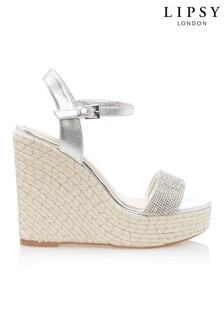 Lipsy Diamanté Espadrille Wedges